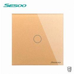 Sesoo A601G váltó érintőkapcsoló, alternatív érintőkapcsoló, aranybarna