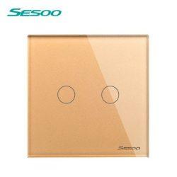 Sesoo D602G aranybarna érintő csillárkapcsoló