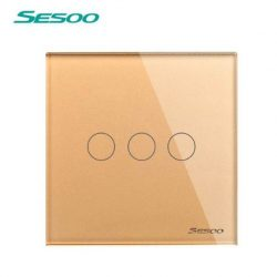 Sesoo D603G aranybarna 3 pólusú érintőkapcsoló