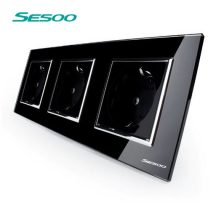 Sesoo DB3 tripla kristályüveg dugalj, földelt fekete