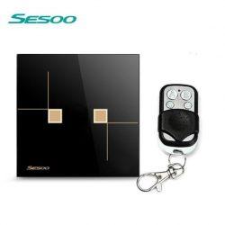 Sesoo S602BY fekete távirányítós érintő csillárkapcsoló