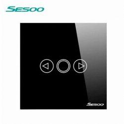 Sesoo T601B fekete fényerőszabályzós érintőkapcsoló