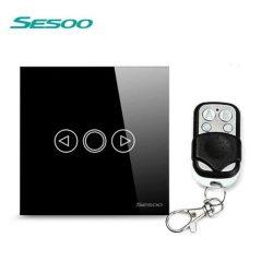 Sesoo T601BY fekete távirányítós fényerőszabályzós kapcsoló