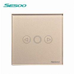 Sesoo T601G aranybarna fényerőszabályzós érintőkapcsoló