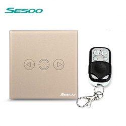 Sesoo T601GY aranybarna távirányítós fényerőszabályzós kapcsoló