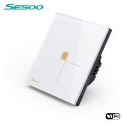 Sesoo W601W fehér WiFi egypólusú érintőkapcsoló