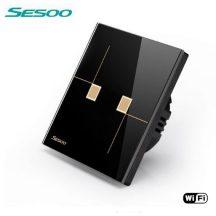 Sesoo W602B fekete WiFi csillár érintőkapcsoló