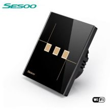 Sesoo W603B fekete WiFi 3 utas érintőkapcsoló