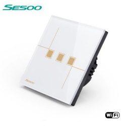 Sesoo W603W fehér WiFi 3 utas érintőkapcsoló
