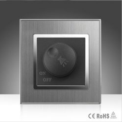 Wallpad fényerőszabályzós kapcsoló fém szatén