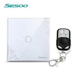 Sesoo Y601F virágmintás távirányítós egypólusú kapcsoló