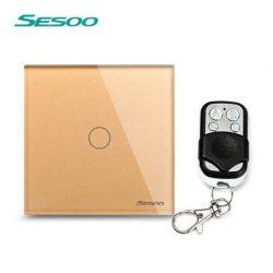 Sesoo Y601G aranybarna távirányítós egypólusú kapcsoló