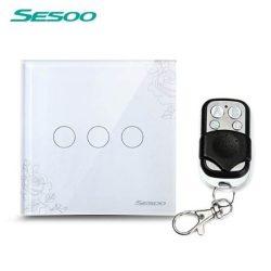 Sesoo Y603F virágmintás távirányítós 3 pólusú  kapcsoló