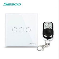 Sesoo Y603W fehér távirányítós 3 pólusú  kapcsoló